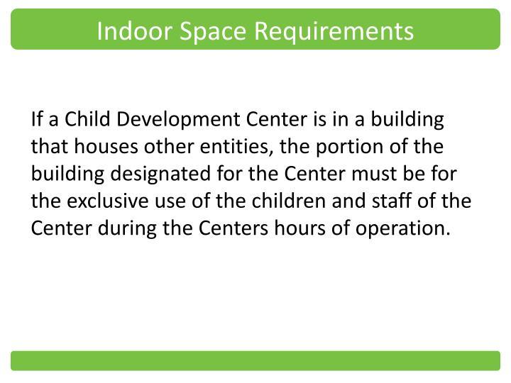 Indoor Space Requirements