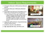 indoor space requirements1