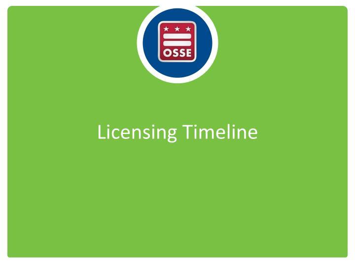 Licensing Timeline