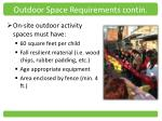 outdoor space requirements contin