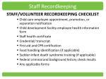 staff recordkeeping
