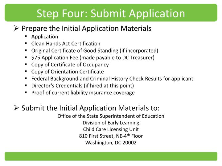 Step Four: Submit Application