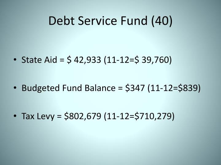 Debt Service Fund (40)