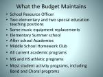 what the budget maintains