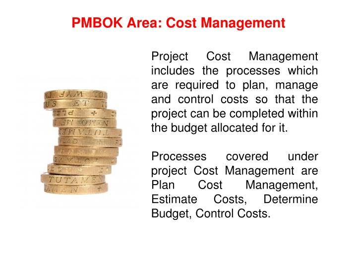 PMBOK Area: Cost Management