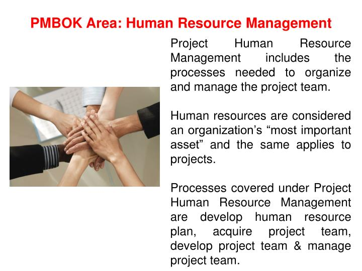 PMBOK Area: Human Resource Management