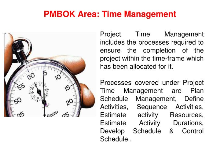 PMBOK Area: Time Management