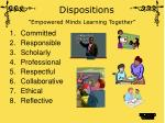 dispositions empowered minds learning together
