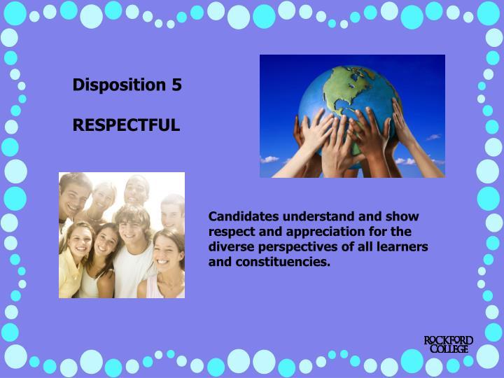 Disposition 5