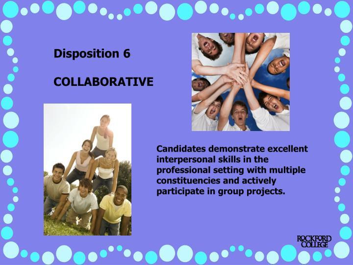 Disposition 6