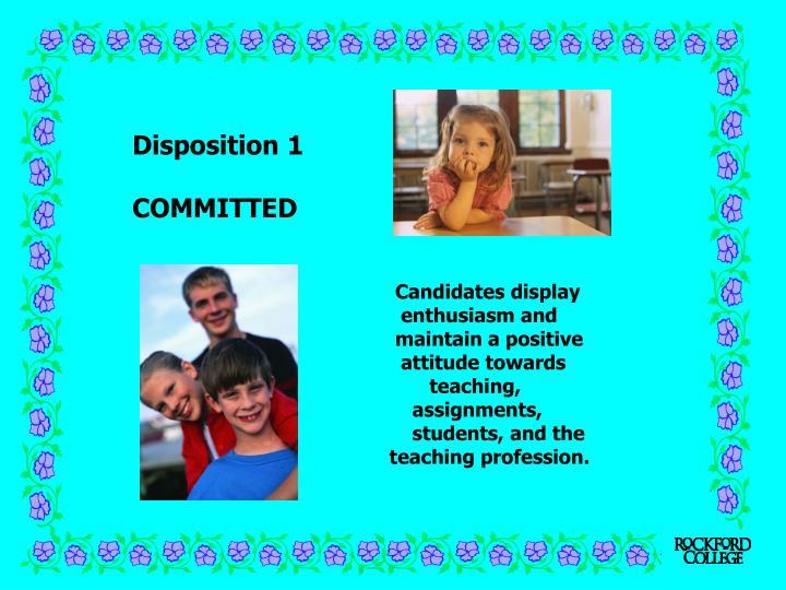 Disposition 1