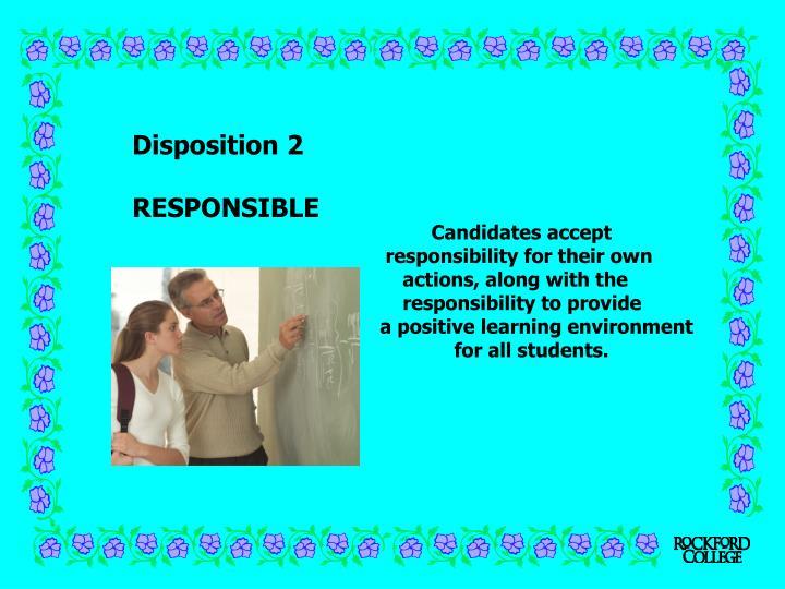Disposition 2