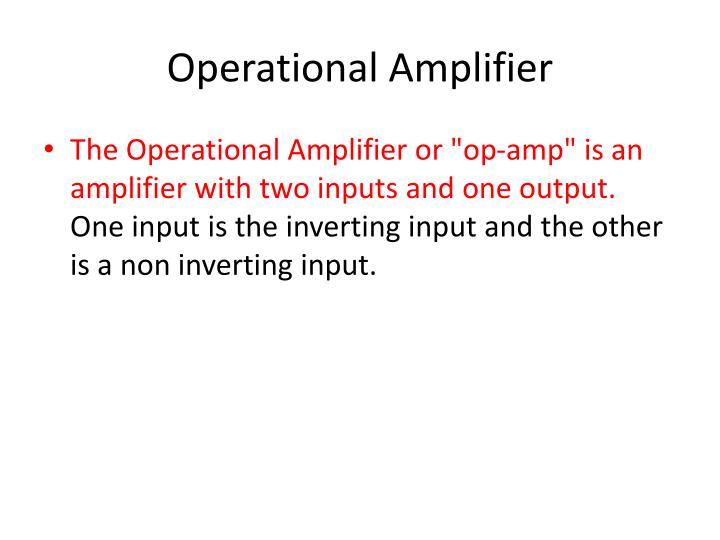 Operational Amplifier