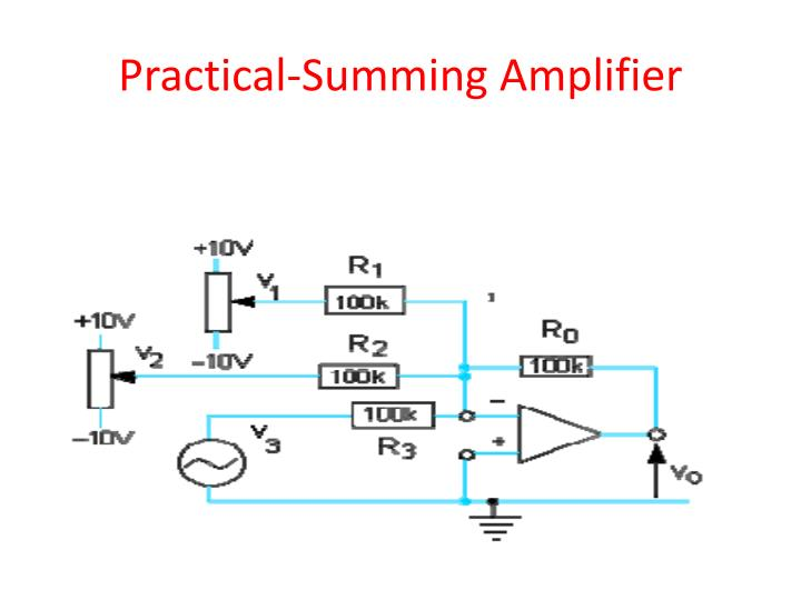 Practical-Summing Amplifier
