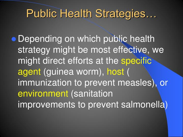 Public Health Strategies…