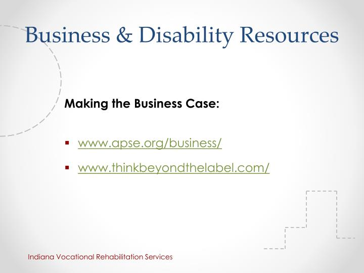 Business & Disability Resources