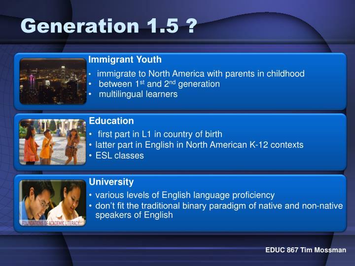 Generation 1.5 ?