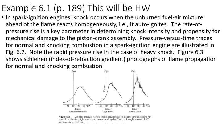 Example 6.1 (p. 189) This will be HW