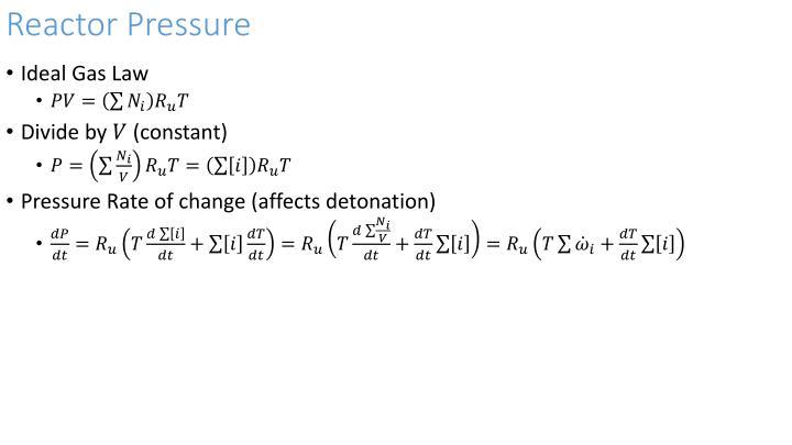 Reactor Pressure