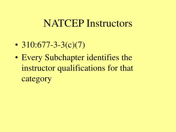 NATCEP Instructors