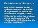 existence of samsara