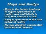 maya and avidya