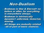 non dualism