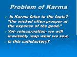 problem of karma