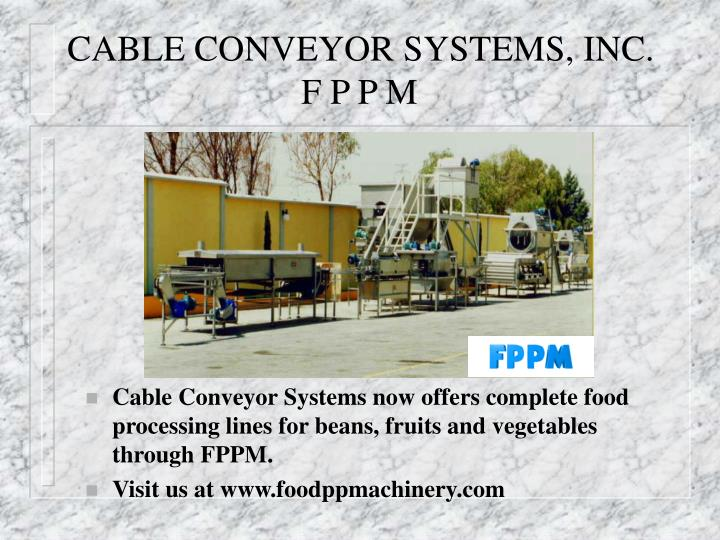 CABLE CONVEYOR SYSTEMS, INC.