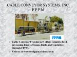 cable conveyor systems inc f p p m