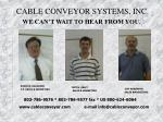 cable conveyor systems inc we can t wait to hear from you