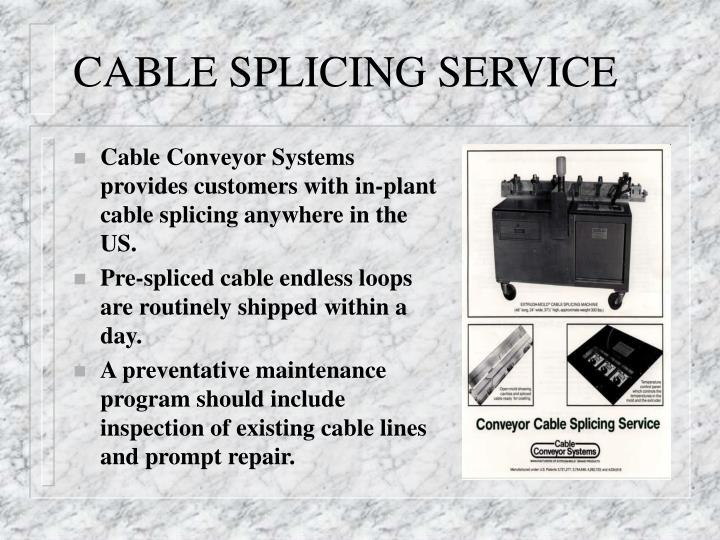 CABLE SPLICING SERVICE