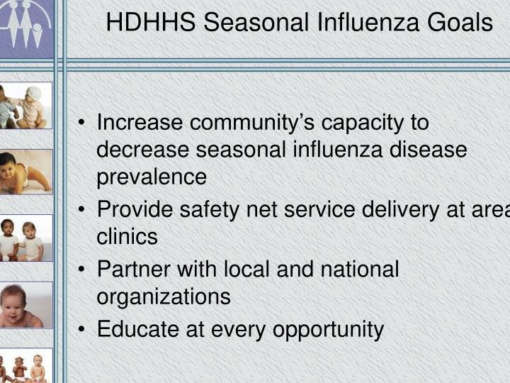 HDHHS Seasonal Influenza Goals
