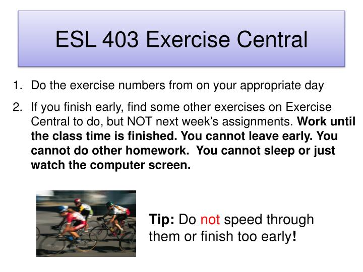 ESL 403 Exercise Central