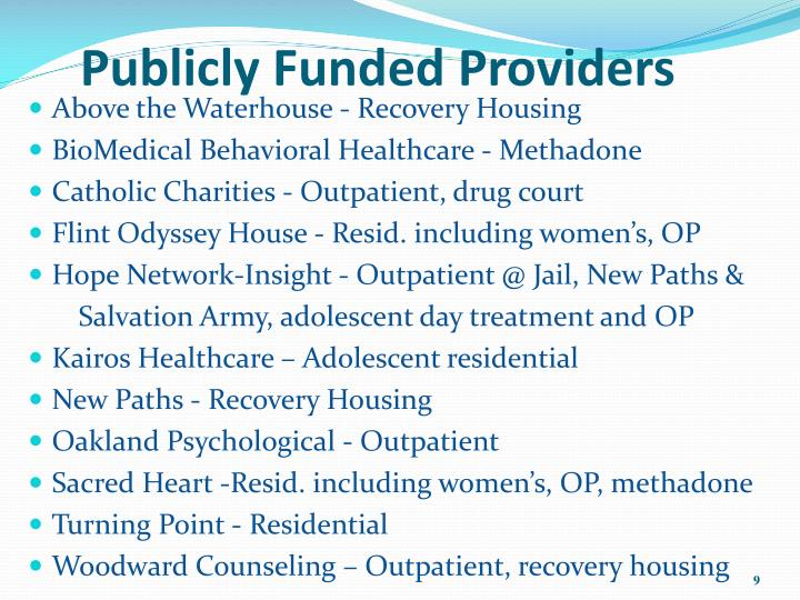 Federally Funded Drug Rehabs