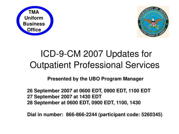 icd 9 cm 2007 updates for outpatient professional services
