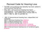revised code for hearing loss