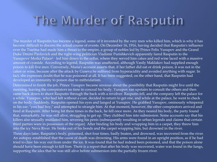 The Murder of Rasputin