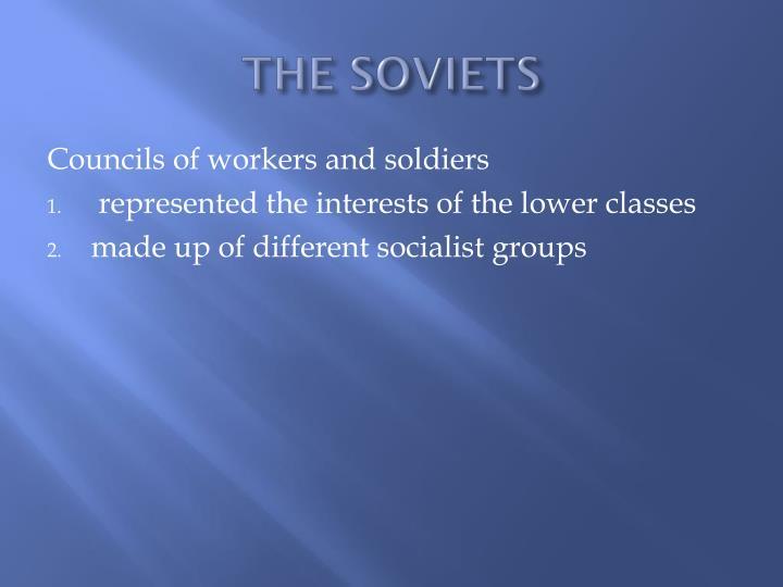 THE SOVIETS
