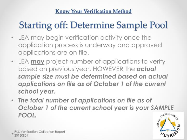 Know Your Verification Method