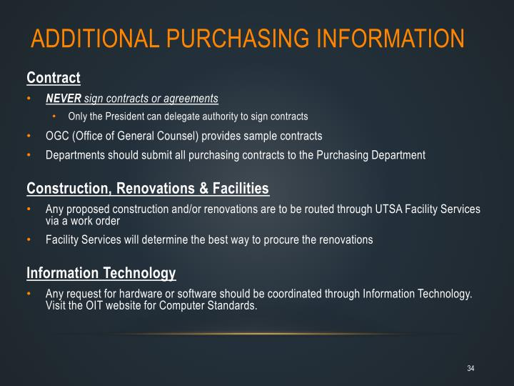 Additional Purchasing Information