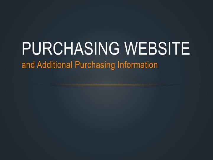 Purchasing Website