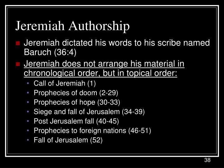 Jeremiah Authorship