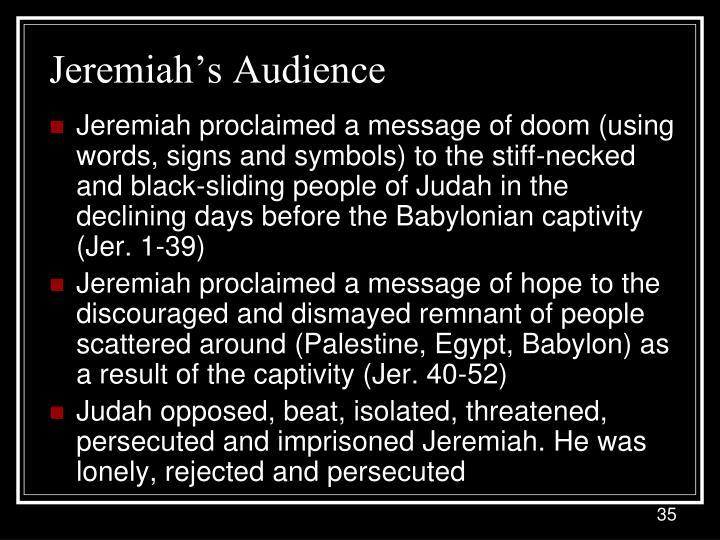 Jeremiah's Audience