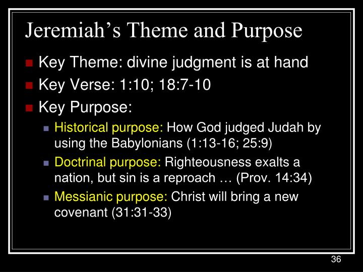 Jeremiah's Theme and Purpose