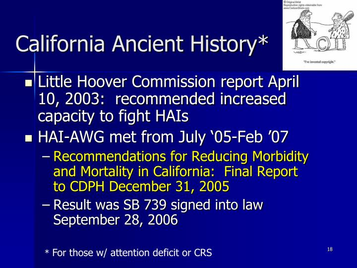 California Ancient History*