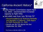 california ancient history