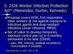 s 2526 worker infection protection act menendez durbin kennedy