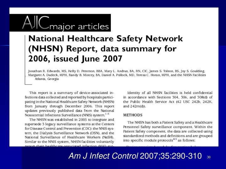 Am J Infect Control