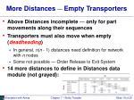 more distances empty transporters